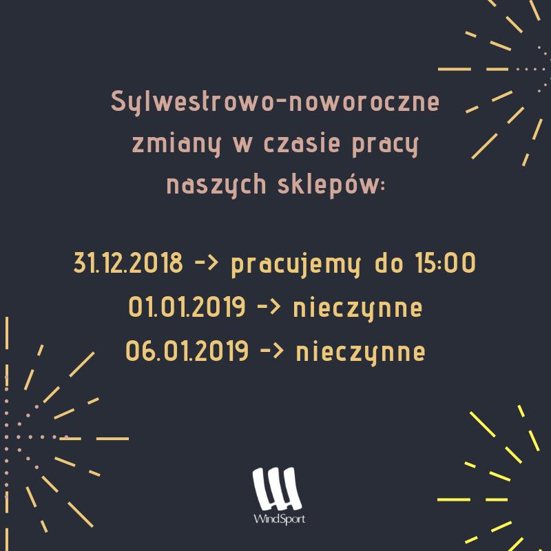 Sylwestrowo-noworoczne godziny pracy naszych sklepów