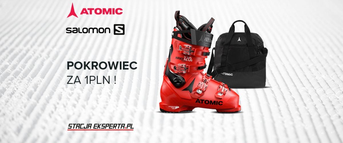 Kup buty narciarskie Atomic lub Salomon i odbierz pokrowiec za 1 zł!