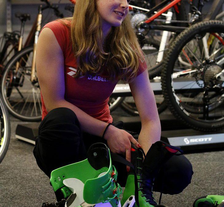 Dopasowanie butów narciarskich Anieli Sawickiej