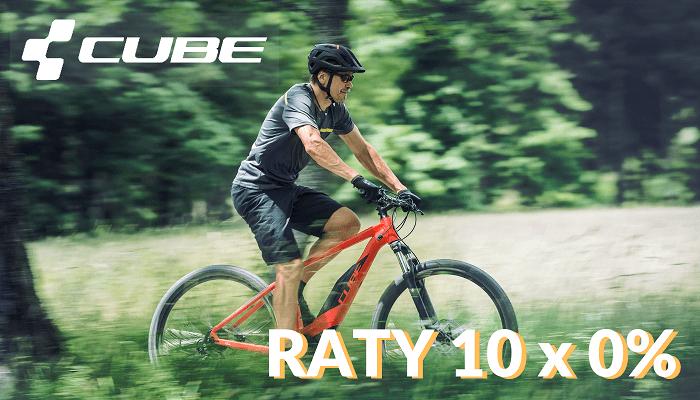 Raty 10×0% na rowery Cube!