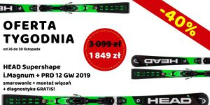 OFERTA TYGODNIA HEAD Supershape i.Magnum + PRD 12 GW 2019
