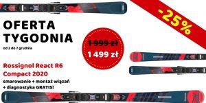OFERTA TYGODNIA Rossignol React R6 Compact 2020 taniej o 25%