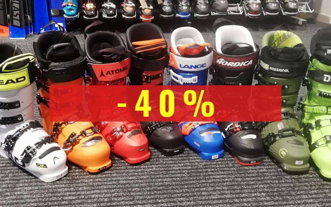 Wyprzedaż! Narty i buty narciarskie z kolekcji 19/20 taniej o 40%!