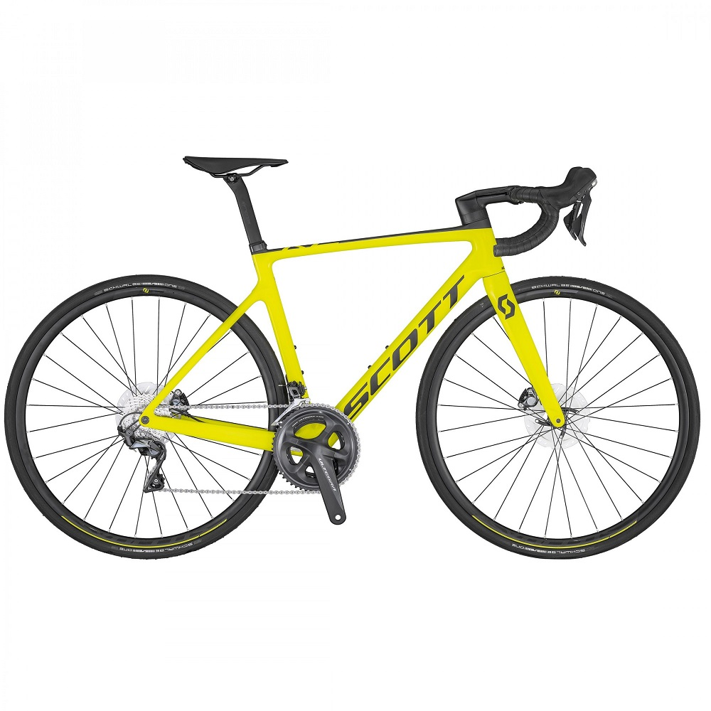 rower szosowy scott addict rc 30 yellow 2020